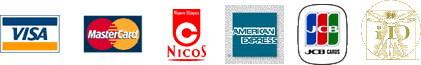 各種クレジットカードとケータイクレジット<iD>でのお支払が可能です。